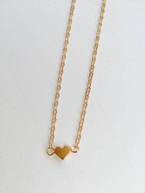 Simple Chain Necklace Gold Heart Necklace Delicate Minimal Heart Necklace For Women Charm Necklace
