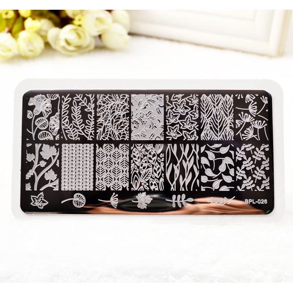 30 Colors Nail Stamp Plates Lace Flower Animal Pattern Nail Art Stamp Template