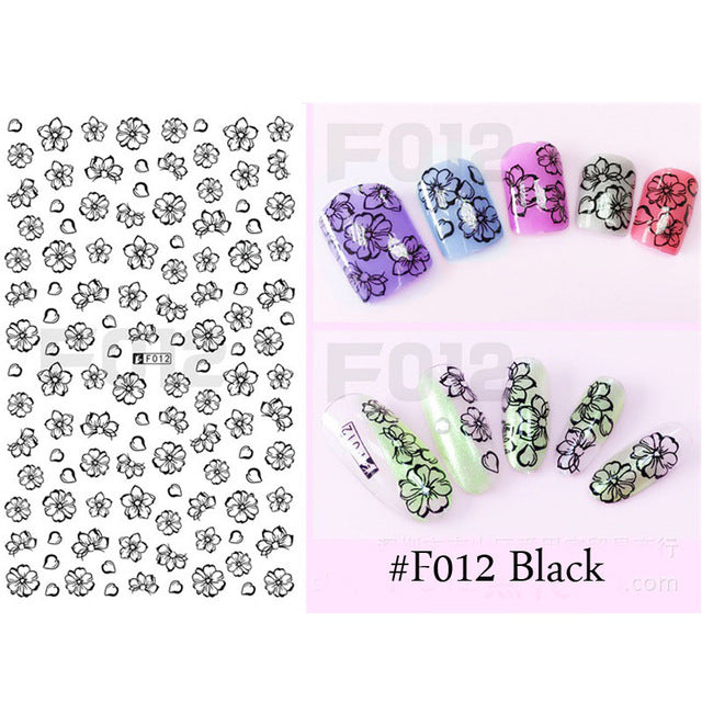 1 Sheet Dreamcatcher Stickers Feather Nail Art 3D Sticker Dream Cather Nail Stickers