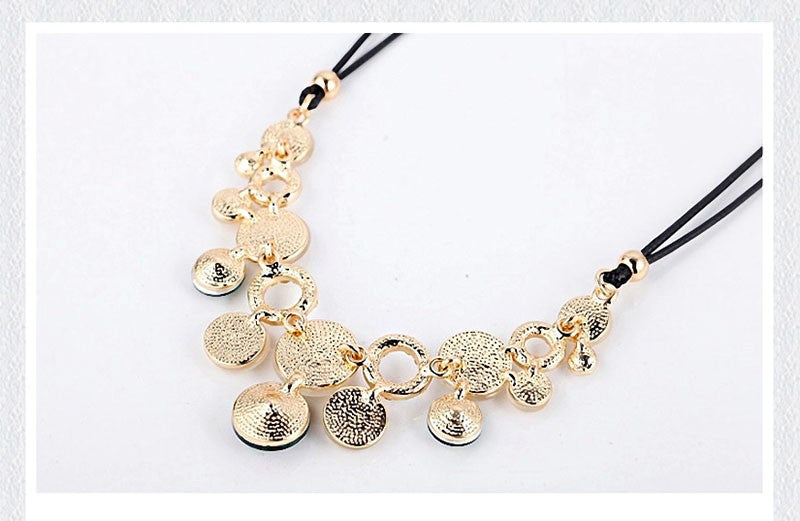 Choker Boho Crystal Rhinestone Necklaces Rope Chain Statement Necklace Collar Pendant