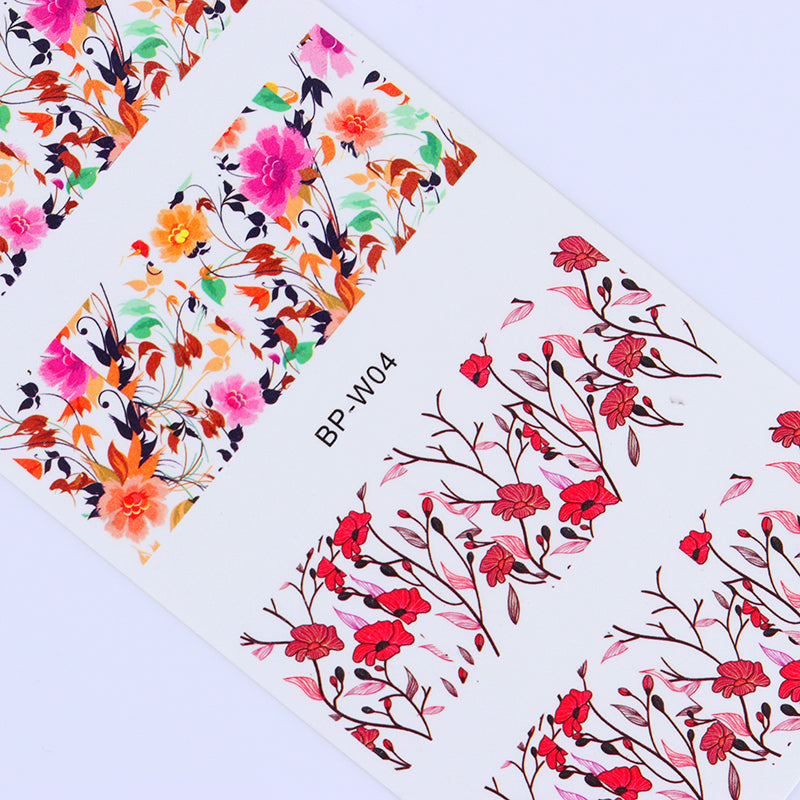 Floral Nail Art Water Decals Transfer Nail Stickers Nail Art Decorations