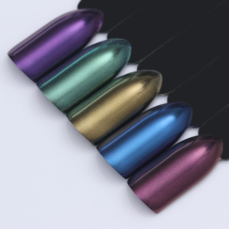 1 Box Mermaid Nail Glitter Powder Shimmer Glitters Pigment Nail Powder Laser Nail Art Decorations