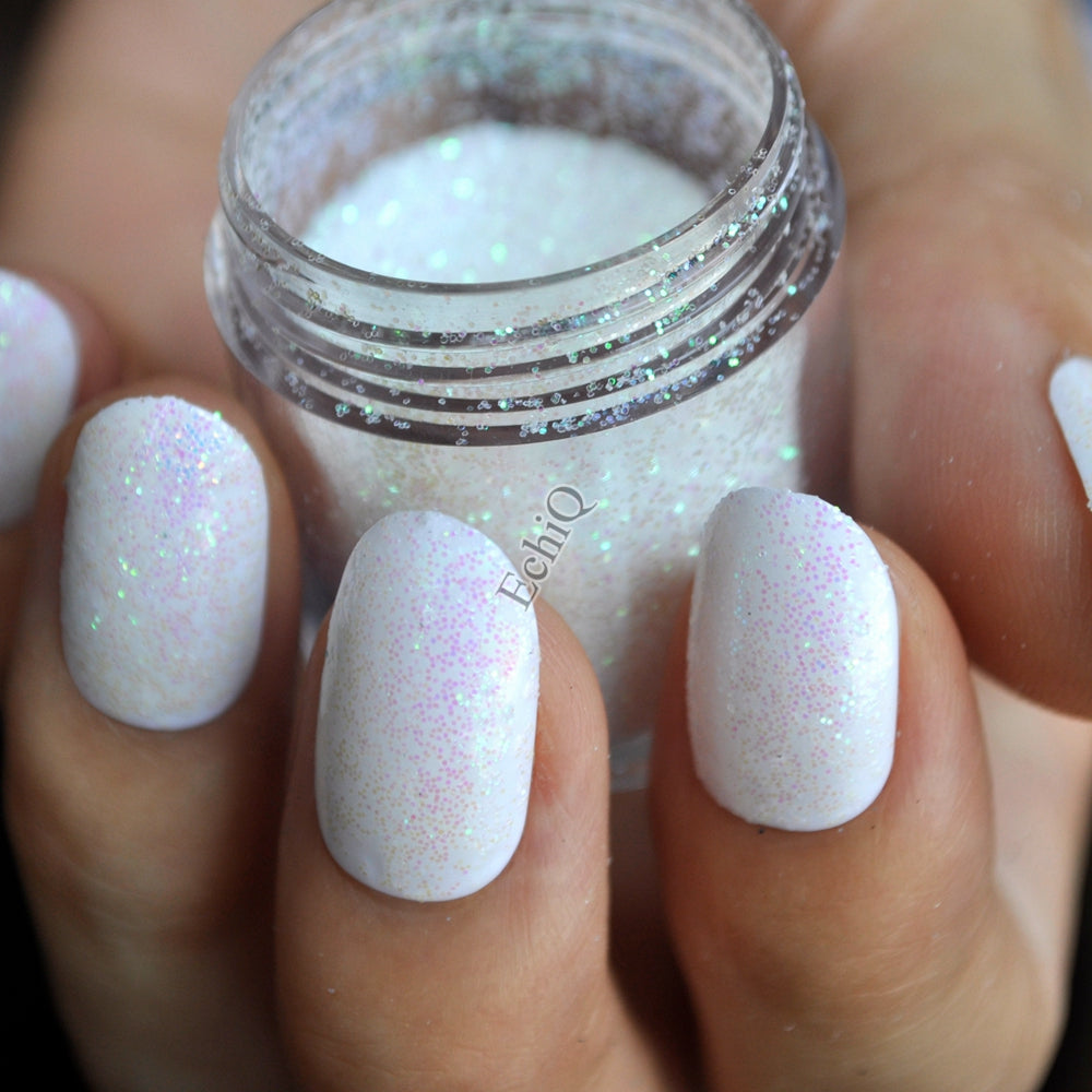 Dazzling Clear White Nail Art Glitter DIY Manicure Small Sequins ...