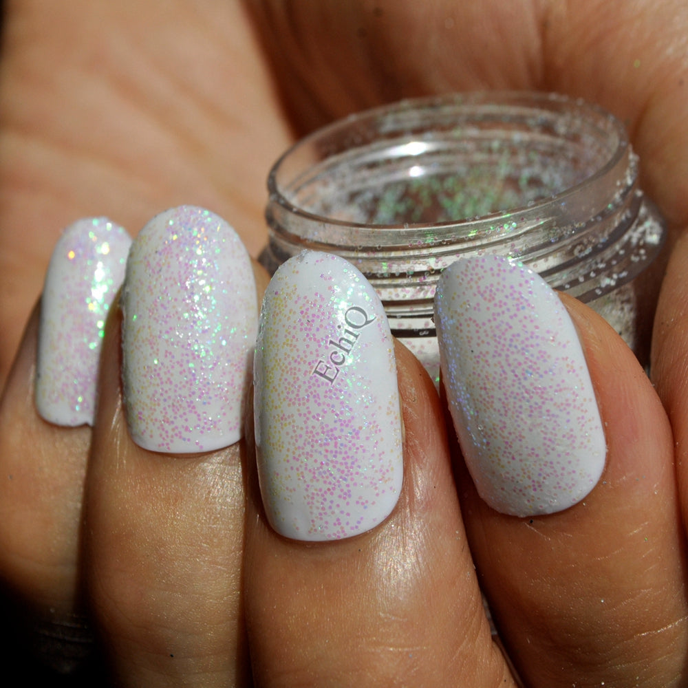 Dazzling Clear White Nail Art Glitter DIY Manicure Small Sequins Powder