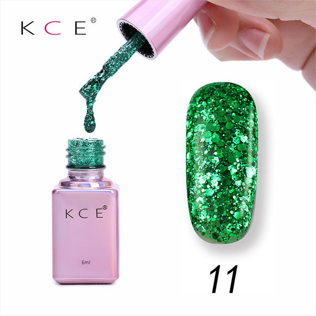 Nail Gel Polish UV LED Shining 15 Colors 6ML Long Lasting Soak Off Varnish Manicure