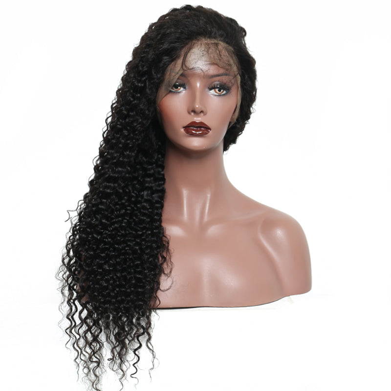 Lace Frontal Wig Pre Plucked 180% Density Brazilian Curly Wig Lace Front Human Hair Wigs With Baby Hair Remy Hair