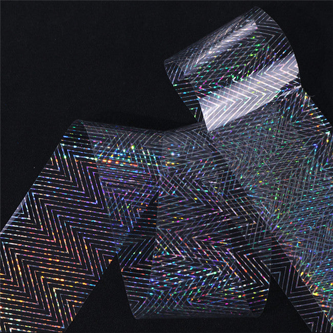 4*100cm Holographic Nail Foil Manicure Nail Art Transfer Starry Sticker Nail Decorations