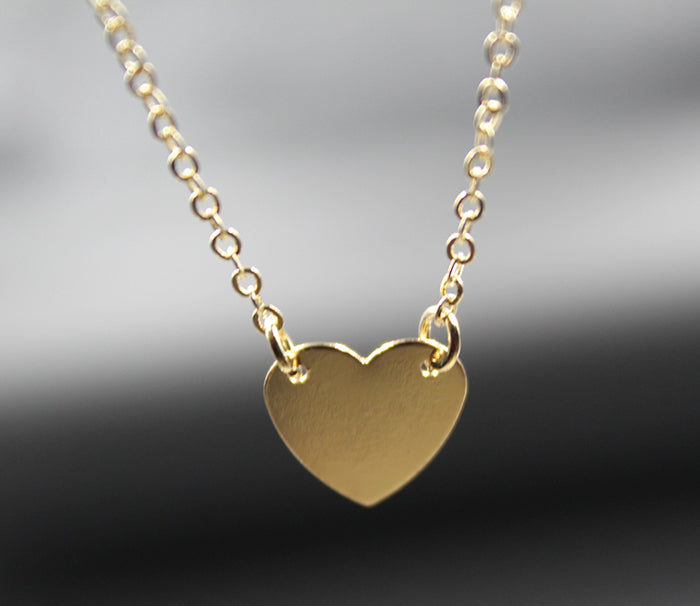 Simple Gold Tiny Heart Choker Necklace Gold Romantic Necklace Friendship Necklace Petite Necklace