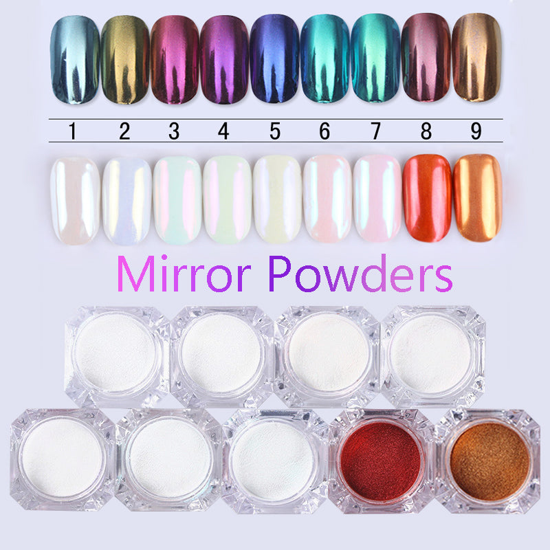 Neon Holo Mirror Powder Aurora Pigment Nail Art Glitter Dust Mermaid ...