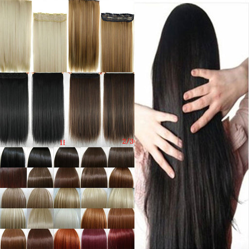 Fall to waist 46-76 CM Longest Clip in for human Hair One Piece Real Natural Thick Synthetic hair Extensions