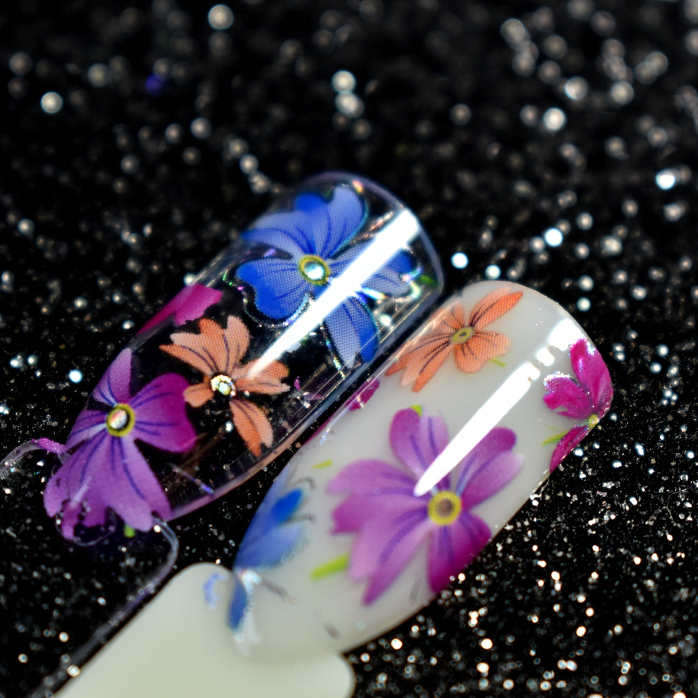250+ Floral Designs Nail Art Nail Glue Transfer