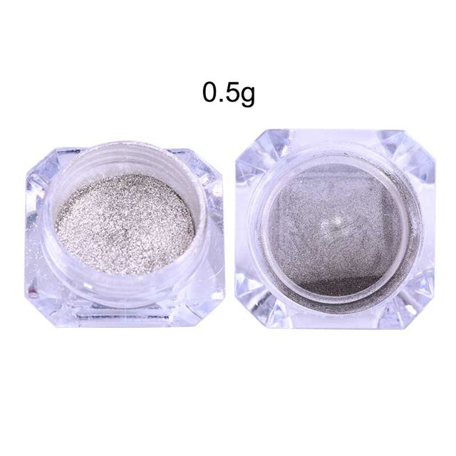 Mirror Silver Nail Glitter Shinning Chrome 1 Box Pigment Manicure DIY Powder Nail Art Dust Decoration