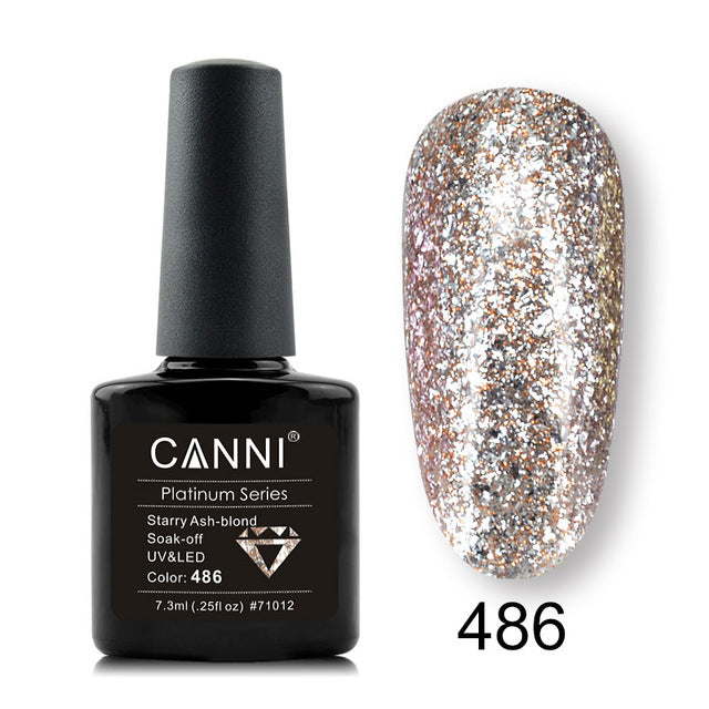 Nail Art Color Paints Lacquer Nail Art Glitter Diamond Shining Glitter Sequins Starry Platinum Paint Gel Nail Polish