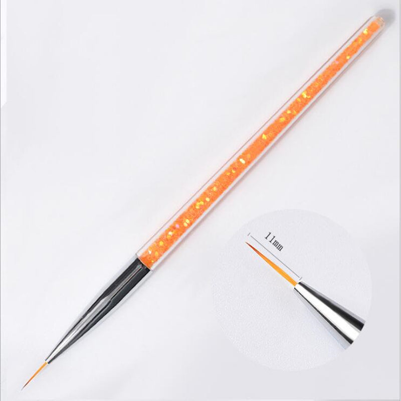 3pcs/set Nail Art Brush Drawing Painting Carving Pen Tools Acrylic Liner UV Gel Sequins 7/9/11mm