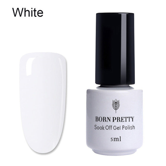 White Clear Blossom Gel Polish Soak Off Long Lasting DIY Nail Art Design Blossom Flowers UV Gel Varnish Lacquer 10ml