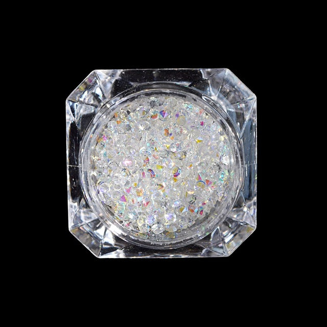 1440pcs 2mm Nail Art Transparent Crystal Clear AB SS6 Point Back Rhinestones Rainbow Small Stones