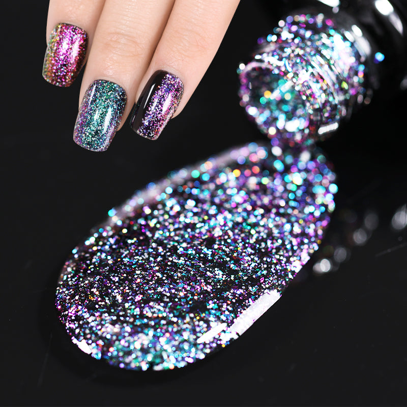 Chameleon Holographic Gel Polish 7.5ml Starry Sparkle Glitter Sequins UV Gel Polish Soak Off Nail Art Lacquer Varnish