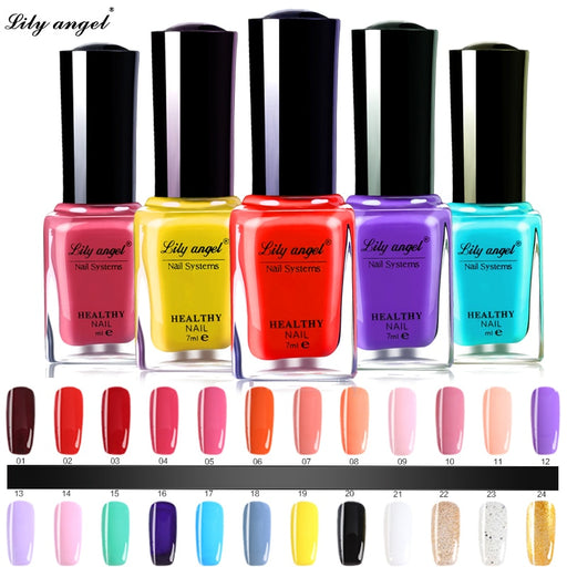 48 Colors Colorful 7ml Nail Polish Gel Paint Peel off Water Based Nails Art Glue