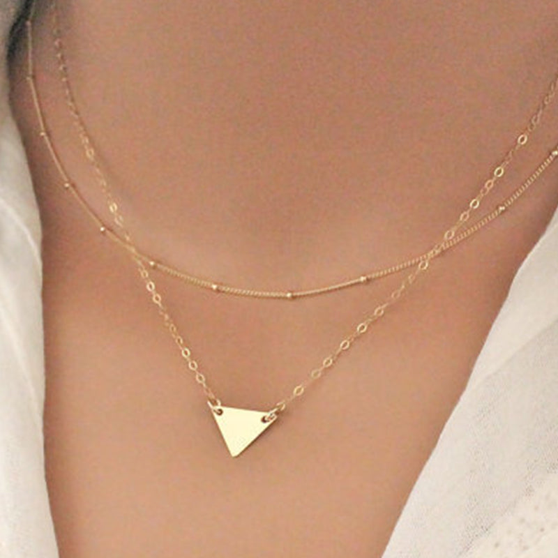 Simple Triangle Necklace Trendy Necklace Choker Necklaces ...