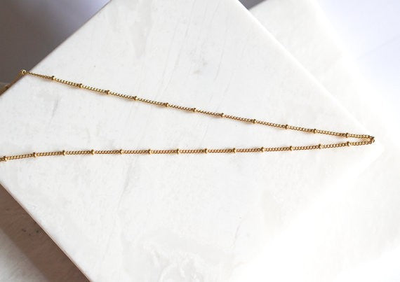 Simple Choker Necklace Gold Bead Satellite Necklace For Women Charm Necklace