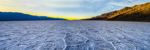 Custom printed yoga mat of Badwater Basin in Death Valley National Park