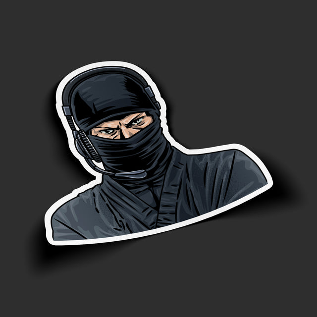 Headset Ninja Sticker