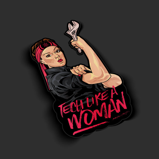 Tech Like a Woman Sticker