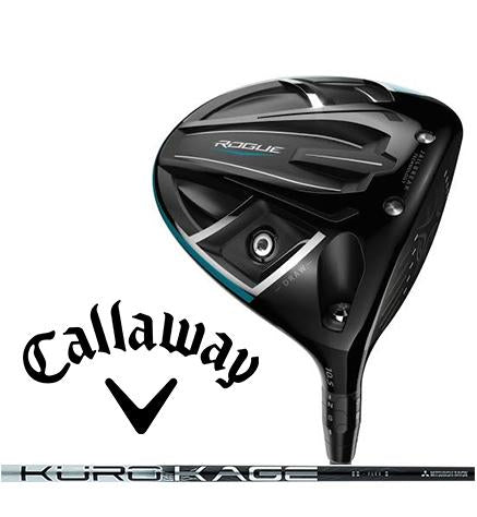 New Callaway Golf 2018 Rogue Draw Custom Driver Mitsubishi Kuro Kage Silver TiNi 60 Midweight Graphite Shaft Regular Stiff X-Stiff Right-Handed Left-Handed 9 10.5 13.5