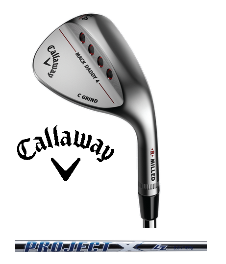 2018 Callaway Mack Daddy 4 Chrome Wedge Project X Rifle Steel