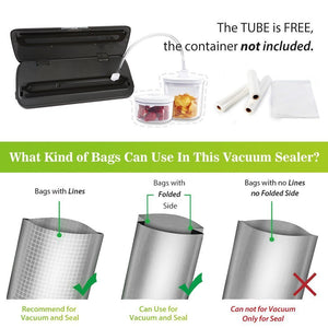 Vacuum sealer bags and rolls