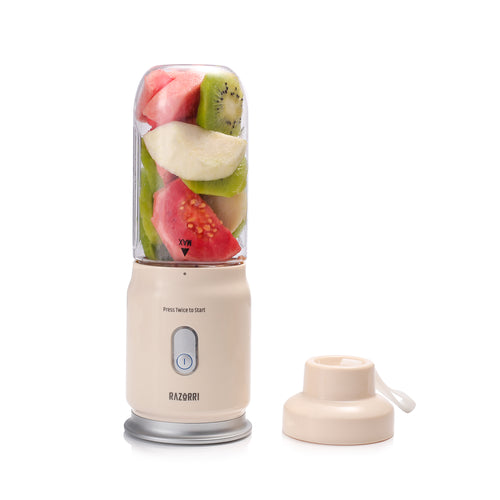 Razorri Personal Smoothie & Juicer Blender, Mini Single Serve Travel Blender, Cordless