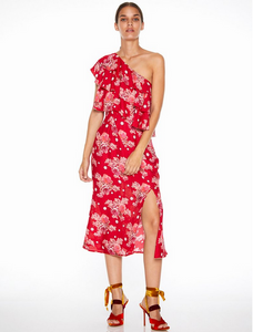 FLORENCE RUFFLE MIDI DRESS