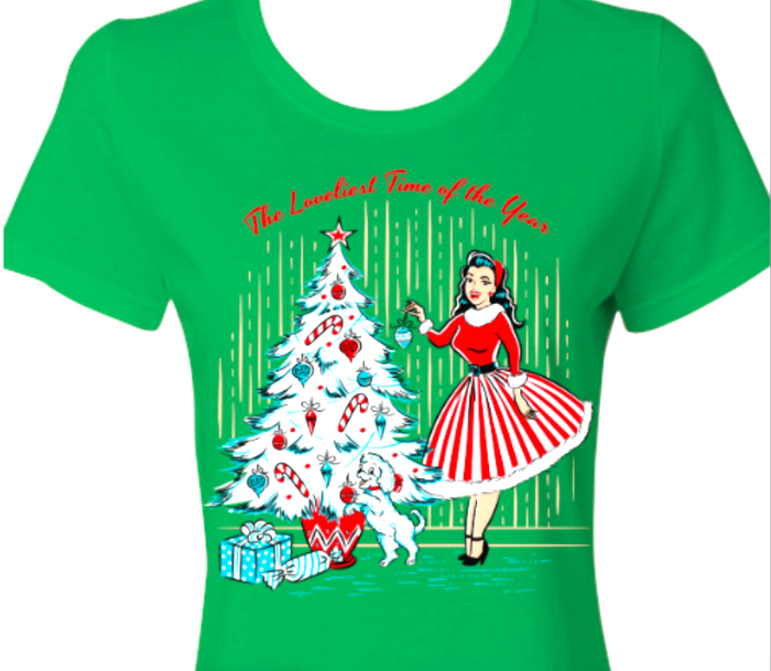 Christmas Holiday T-Shirt Winter Pine Green