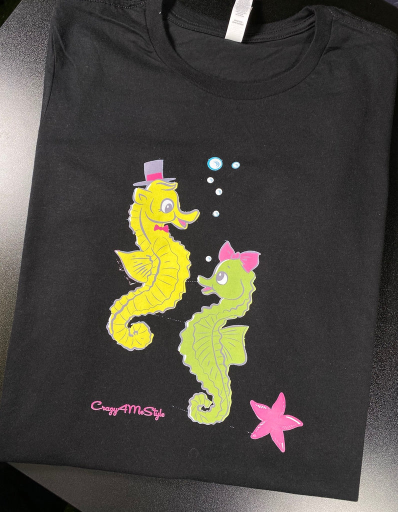 Vintage Style Seahorse Under the Sea T-Shirt