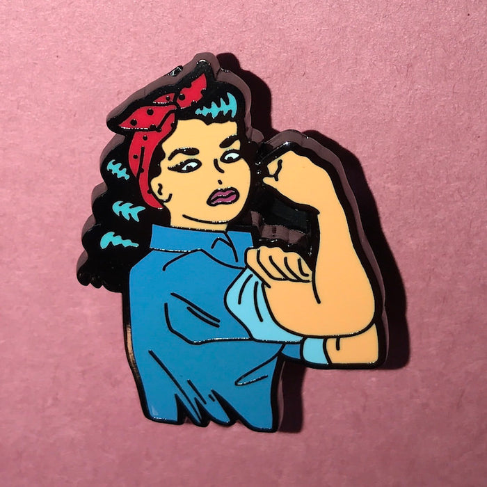 Pinup Rosie Brooch - Rosie The Riveter Rockabilly 1940s 1950s