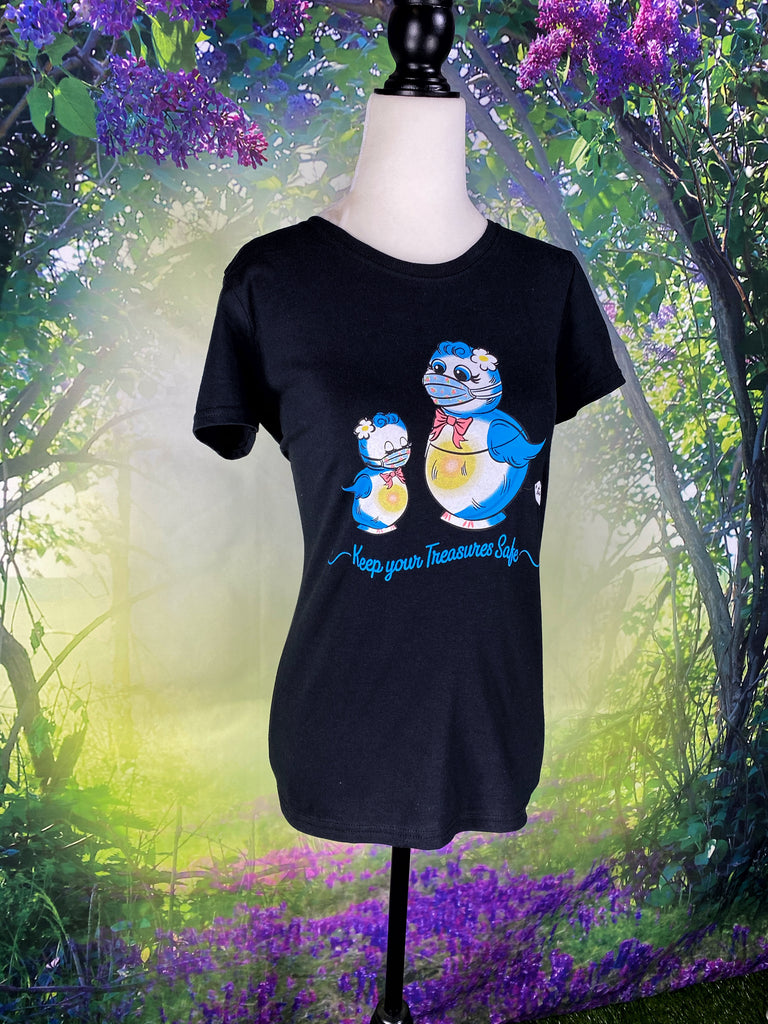 Lefton Bluebird Keep Your Treasures Safe T-Shirt Relaxed Fit