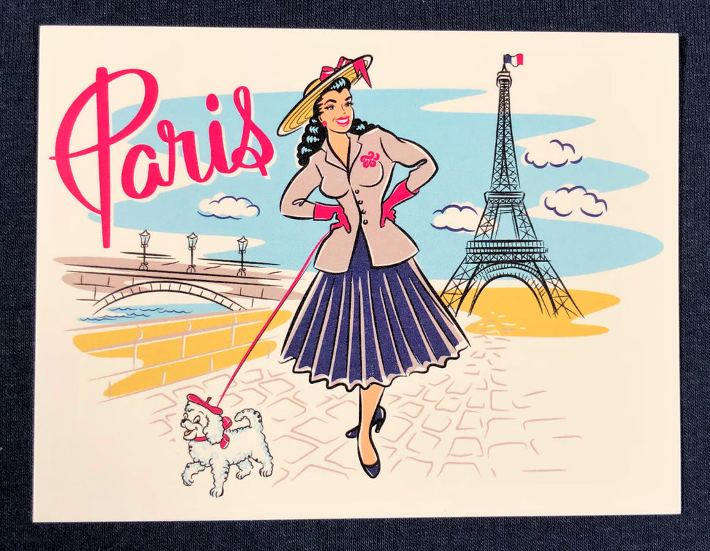 Vintage style Paris France Postcard