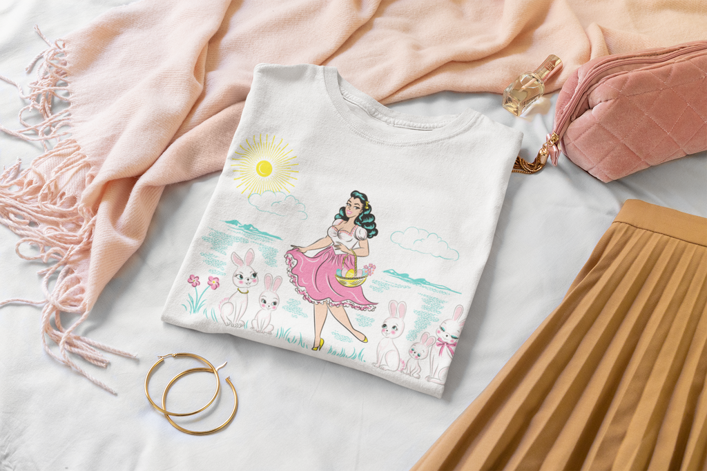 Easter Pinup Girl T-Shirt