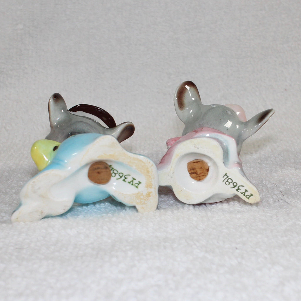 Vintage Anthropomorphic PY Japan Mouse Couple Mice Rats Salt and Pepper Shakers 1950s Retro Kitchen