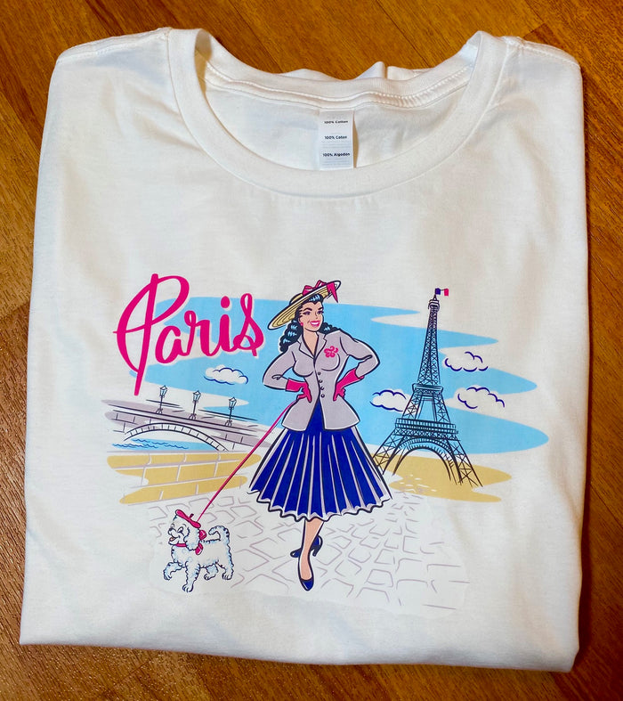 Paris Eiffel Tower Pinup T-Shirt