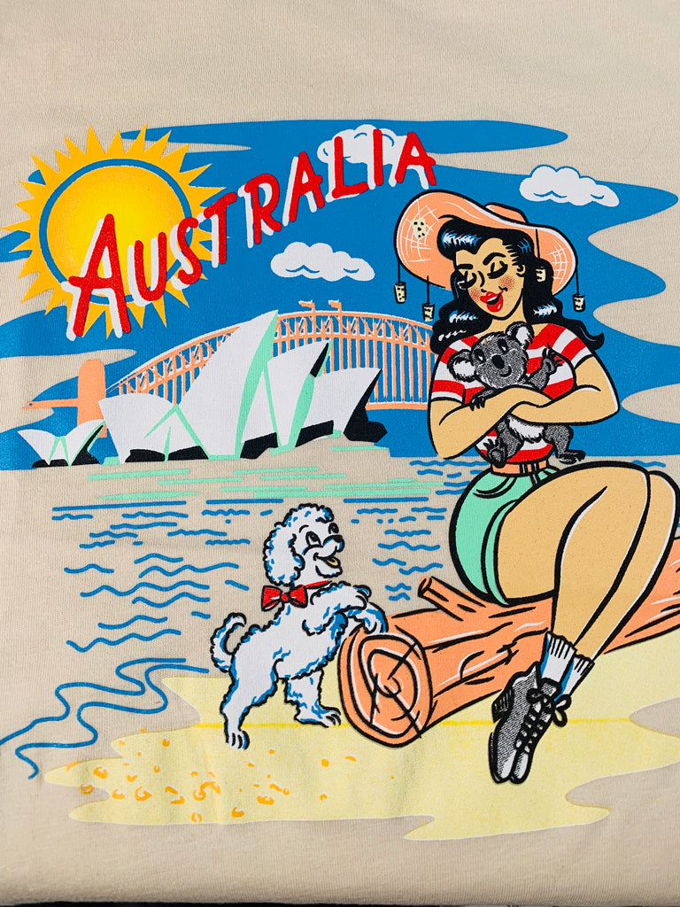 Australia Sydney Harbour Graphic T-Shirt Short-Sleeve Cotton