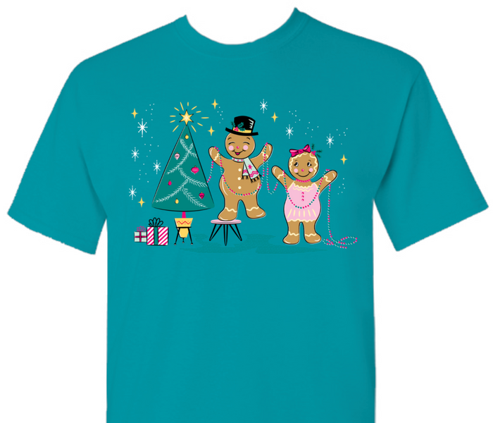 Retro Gingerbread Christmas Cuties Tee
