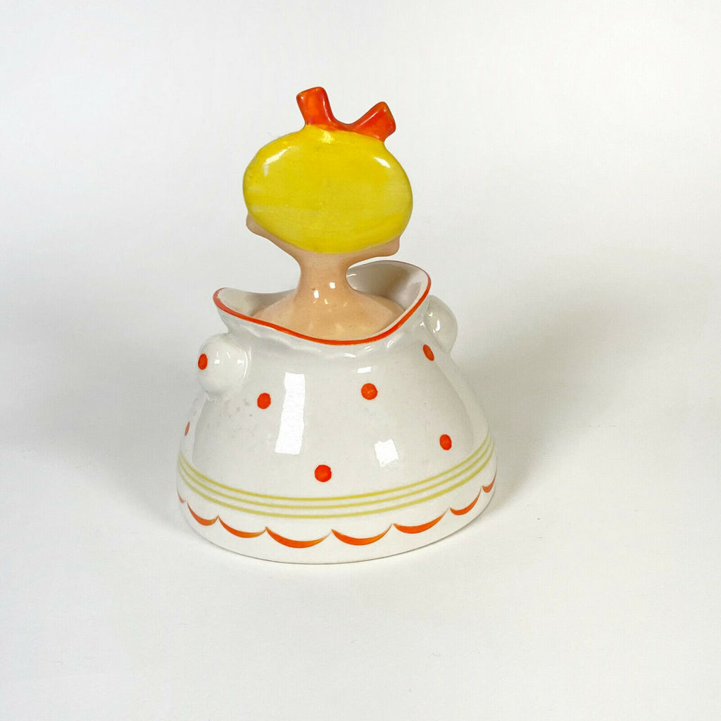 Vintage MG Dolly Girl Ketchup Jar Holt Howard Pixieware Condiment Mid-Century