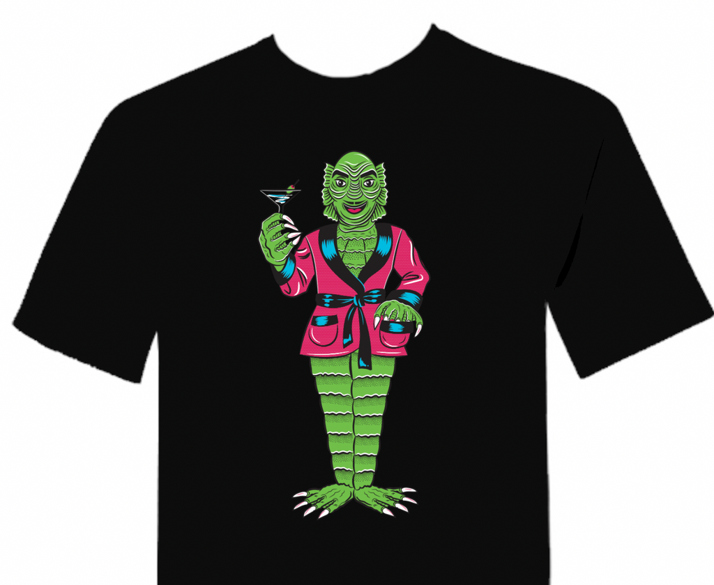 Creature From The Black Lagoon the Cocktail King Unisex T-Shirt Black