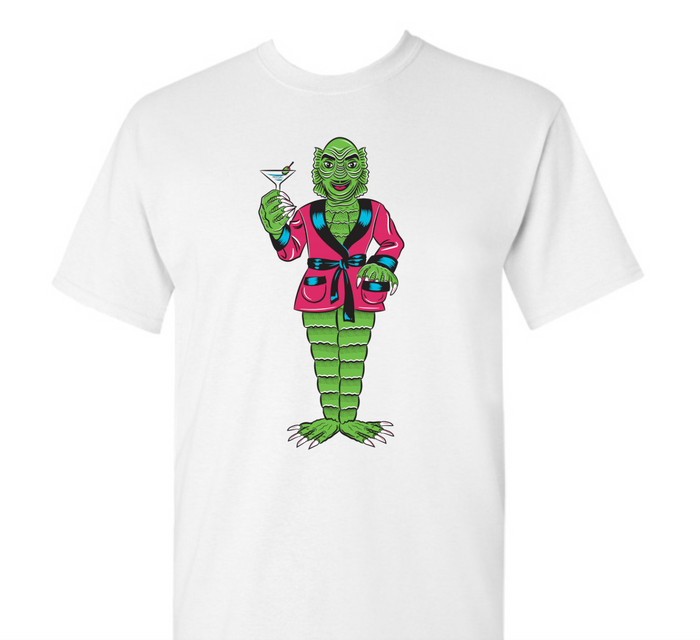 Creature From The Black Lagoon the Cocktail King Unisex T-Shirt White