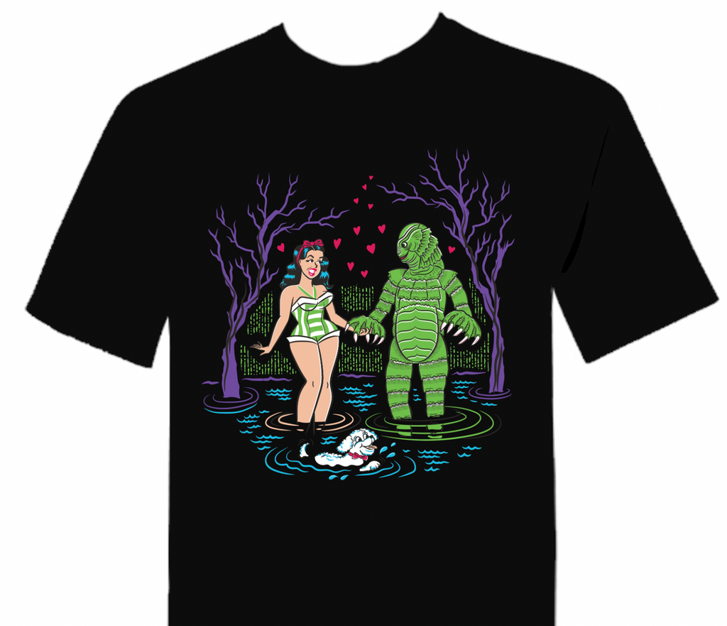 Creature From The Black Lagoon T-Shirt Swamp Love