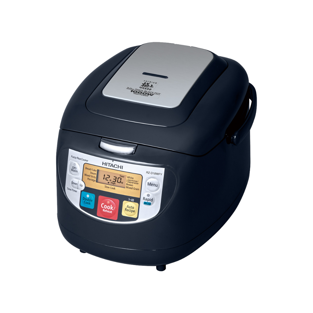 Hitachi RZD18WFY 1.8L Microcomputer Rice Cooker  (Assorted Colors)