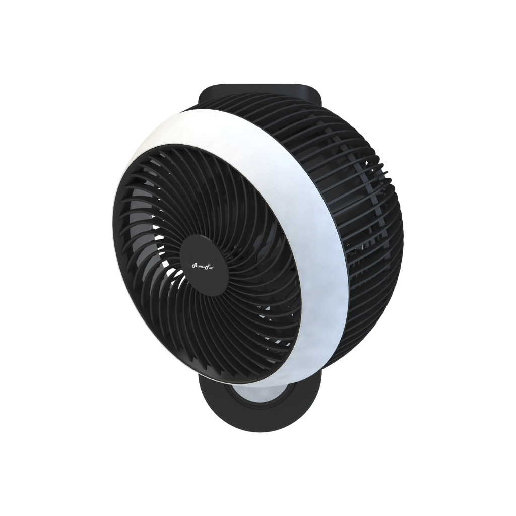 "Alpha WF 360/8-AC 8"" Motto 360 Wall Fan (White/Black)"