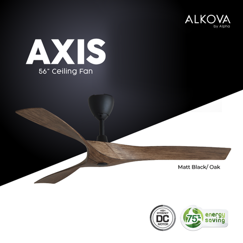 "Alkova AXIS.OAK 56"" Ceiling Fan 