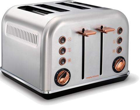 Morphy Richard 242105 Accents Rose Gold Toaster Brushed | ESH Online